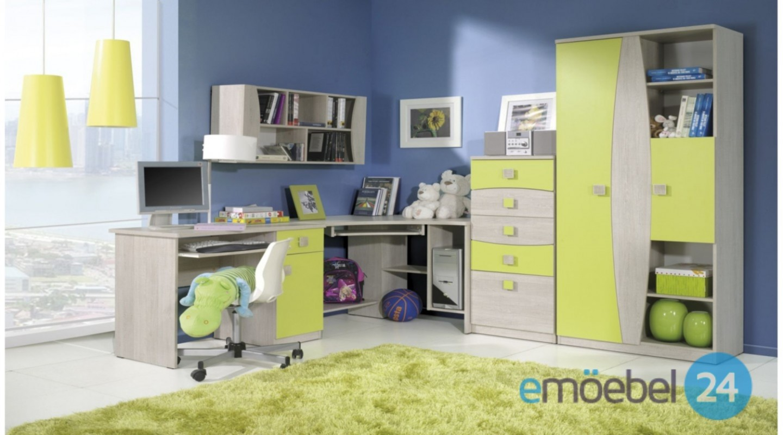 wohnwand tenus system 4 kinderzimmer gelb - emoebel24