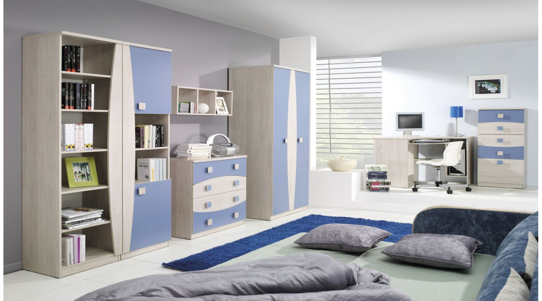 wohnwand tenus system 6 kinderzimmer blau - emoebel24