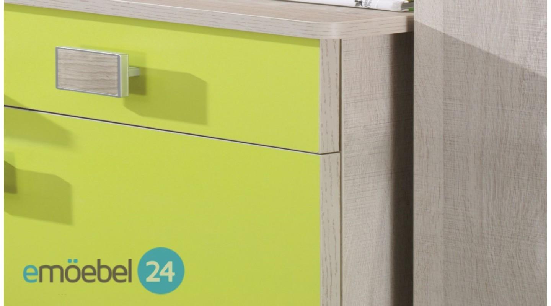 wohnwand tenus system 9 kinderzimmer gelb - emoebel24