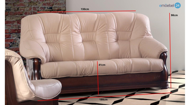 Liviani 3 2 1 set sofa couch echtleder antikstil   emoebel24