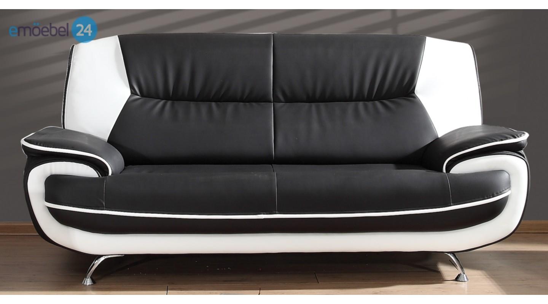 onyx set 3 2 sofa couch pu industrieleder kunstleder. Black Bedroom Furniture Sets. Home Design Ideas