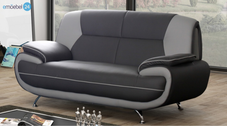 onyx set 3-2 sofa couch pu industrieleder kunstleder - emoebel24, Hause deko