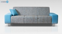 ASILLA SET 3-2-1 SOFA COUCH WEBSTOFF GRAU