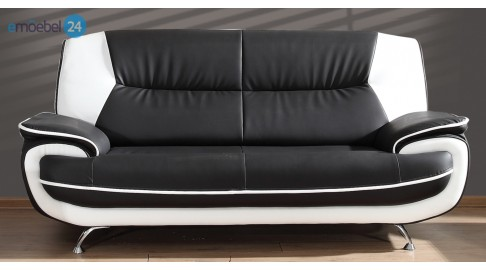Onyx 3-Sitzer Sofa Couch Industrieleder Pu Kunstleder - Emoebel24