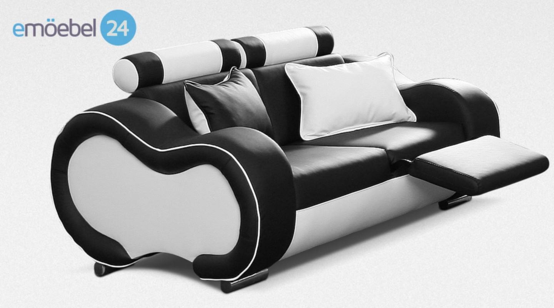 Alaska Sitzer Couch Sofa Echtleder Schwarz Weiss With Sofa Schwarz Wei With Sofa  Schwarz Wei Gestreift