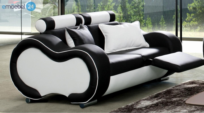 Brilliant Echtleder Sofa Schwarz Sammlung Von Alaska Set 3-2-1 Couch