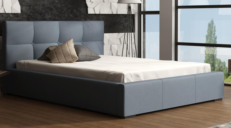 Genial Bettkasten 140x200 Dekoration Von Nivela Bett Echtleder Kunstleder Cm Blau