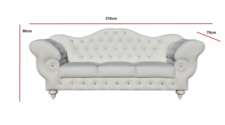 Ston 3 2 Set Sofa Couch Echtleder Kunstleder Weiss Emoebel24