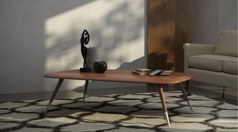 Kaffeetisch Rodeo Couchtisch Holz Table Skandinavisch Schwarz