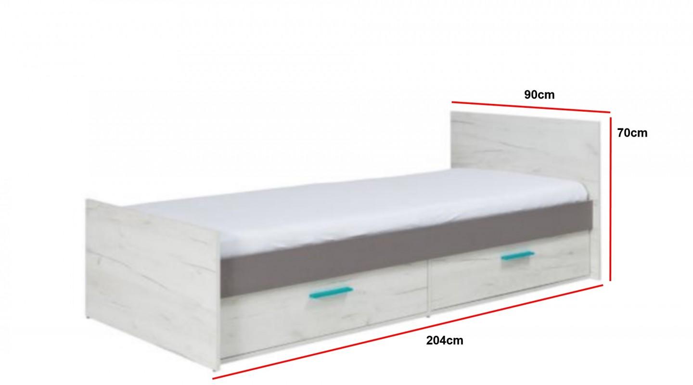 Unglaublich Einzelbett Weiß Referenz Von Bett Rest R5 Wohnwand Grau Weiß Kollektion