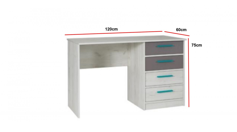 Bezaubernd Schreibtisch Weiß Grau Foto Von Rest R6 Weiß Kinderzimmer Kollektion
