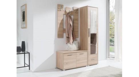 Garderobe Hit Schrank Kommode Spiegel Eiche Emoebel24
