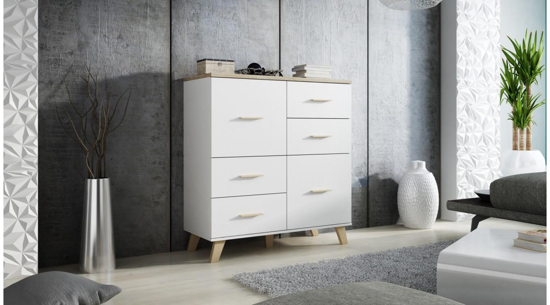 Verzauberkunst Kommode Weiß Holz Galerie Von Lotta Vitrine Weiß Eiche Sonoma Skandinavien