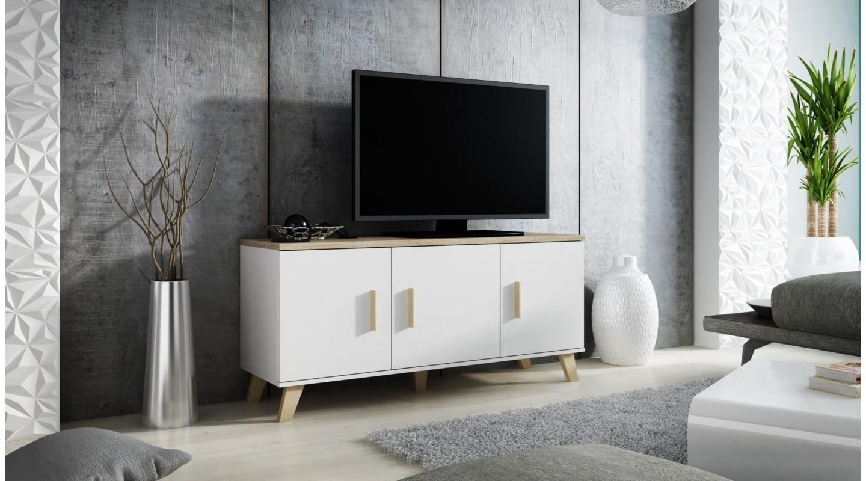 Erstaunlich Kommode Weiß Holz Beste Wahl Lotta 150 3d Rtv Weiß Eiche Sonoma