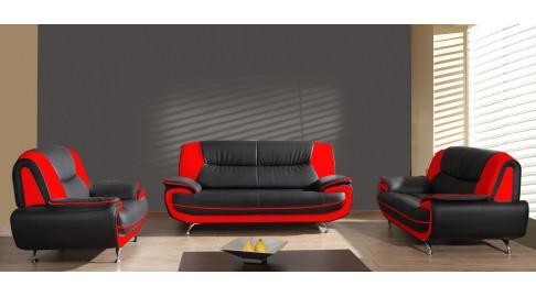 Onyx Set 3 2 1 Sofa Couch Pu Industrieleder Kunstleder Emoebel24