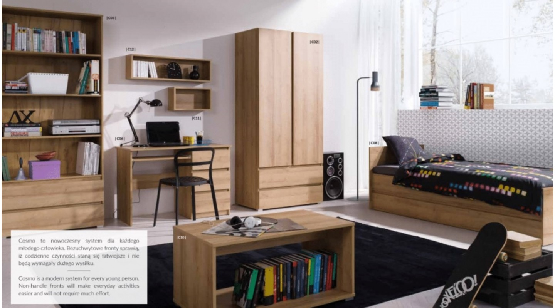 Ansprechend Wohnzimmer Eiche Sammlung Von Cosmo System 3 Kinderzimmer