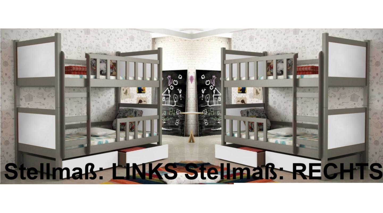 Etagenbett Holz Weiß : Massivholz etagenbett weiß nische cm teilbar rollrost