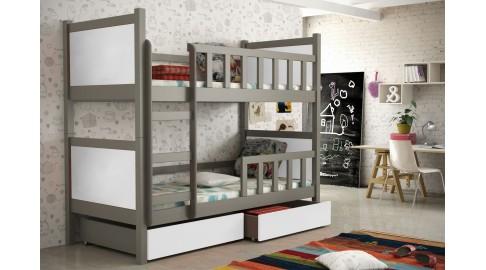 Kinderzimmer Mit Etagenbett : Bett peter kinderzimmer etagenbett anthrazit weiss emoebel