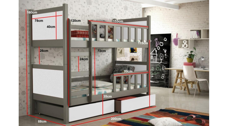 Kinderzimmer Etagenbett Set : Bett peter kinderzimmer etagenbett anthrazit weiss emoebel