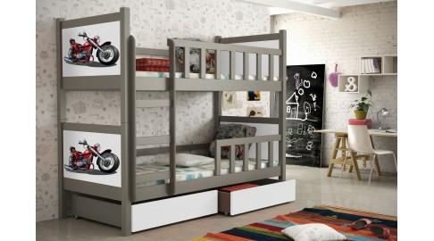 Etagenbett Kinderzimmer : Bett pinokio grau weiss etagenbett kinderzimmer emoebel