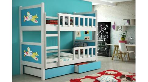 Kinderbett Etagenbett : Bett pinokio kinderbett etagenbett doppelbett weiss blau emoebel