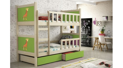 Etagenbett Grün : Bett pinokio kinderzimmer etagenbett kiefer grÜn emoebel
