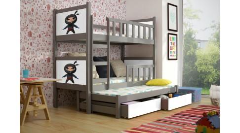 Drei Etagenbett : Bett pinokio etagenbett grau weiss kinderbett emoebel