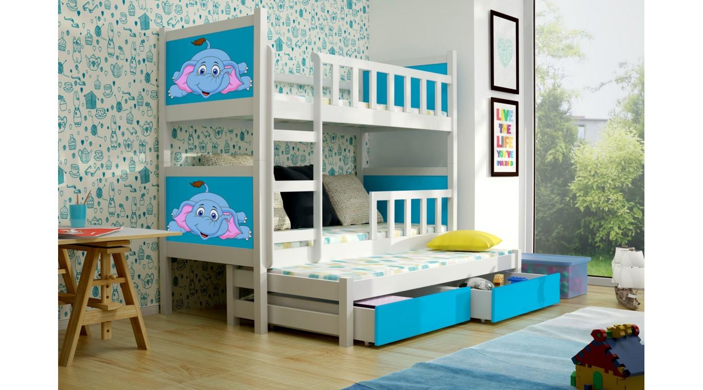 Kinderbett Etagenbett : Bett pinokio kinderbett etagenbett weiss blau emoebel