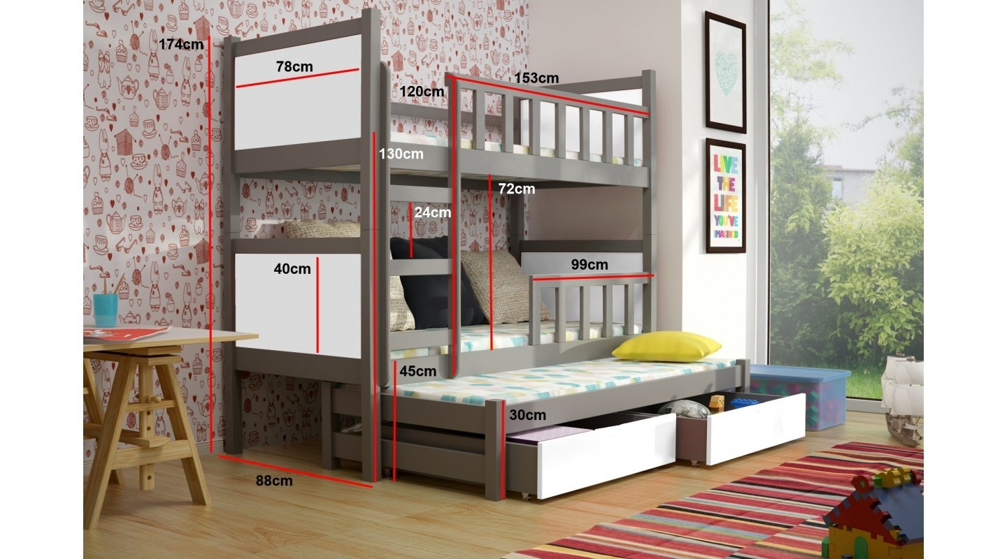 Etagenbett Drei : Drei etagenbett three bunk bed