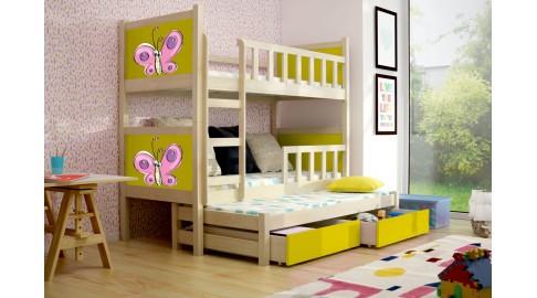 Kinderbett Etagenbett : Bett pinokio gelb kiefer kinderbett etagenbett emoebel
