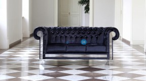 CHESTERFIELD GLANZ SOFA 3SITZER KOLLEKTION GLAMOUR