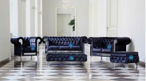 CHESTERFIELD GLANZ SET 321 SOFA KOLLEKTION GLAMOUR