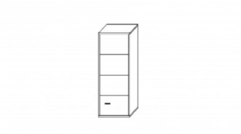 h ngevitrine v7 venice kollektion weiss grau hochglanz. Black Bedroom Furniture Sets. Home Design Ideas