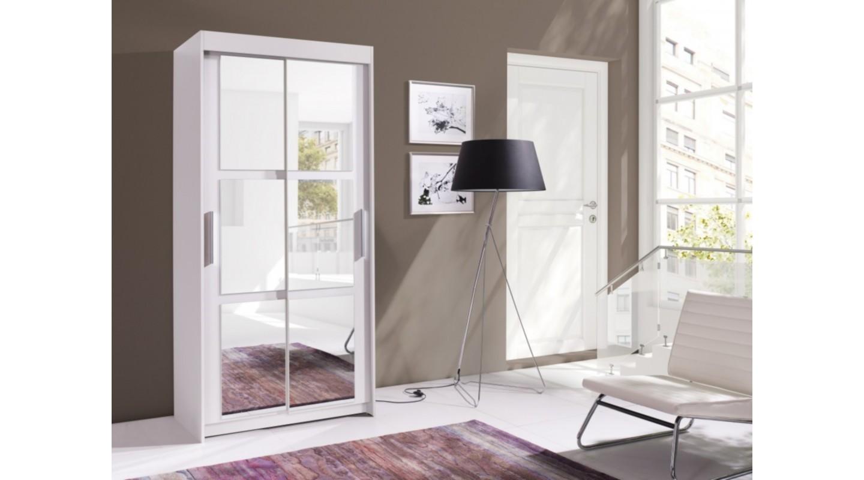 Karo Schrank Garderobe Spiegel 100 Weiss gf6b7y
