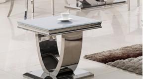 KAFFEETISCH CHX-12893 MODERN BAROCK DESIGN GLASS MARMOR