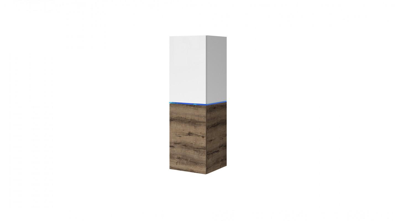 vitrine domino eiche weiss wohnzimmer hochglanz emoebel24. Black Bedroom Furniture Sets. Home Design Ideas